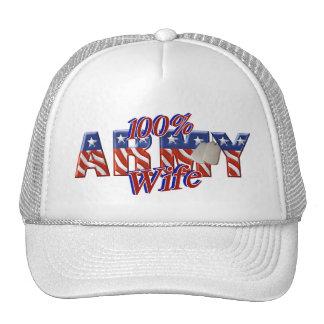 army wife trucker hats