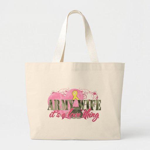 Army Wife Love Thing Jumbo Tote Bag
