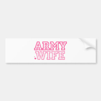 Army Wife (pink) Bumper Stickers