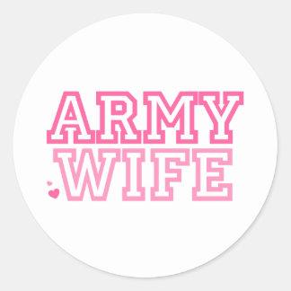 Army Wife (pink) Classic Round Sticker