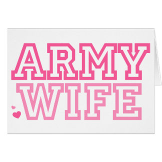 Army Wife (pink) Greeting Card