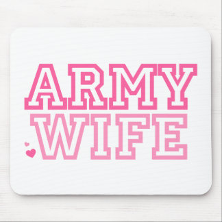 Army Wife (pink) Mousepads