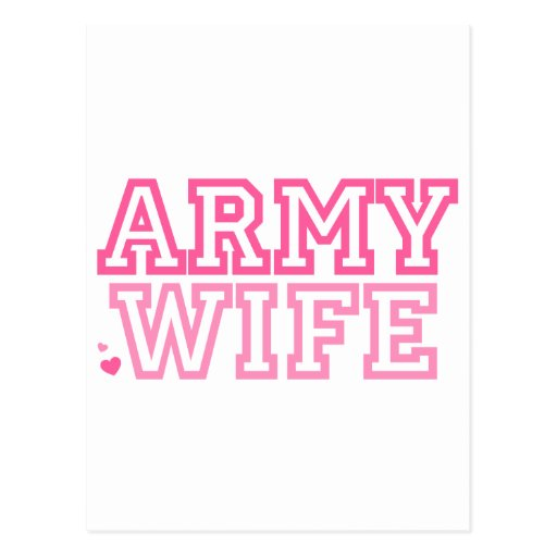 Army Wife (pink) Post Cards