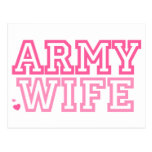 Army Wife (pink) Postcards