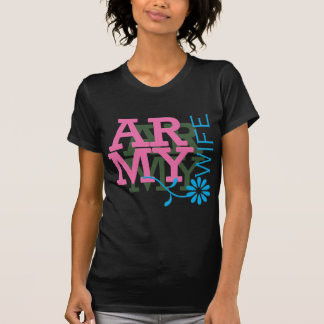 Army Wife - Pink Tee Shirts