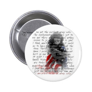 Army wife poem pinback button
