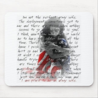 army wife poem mouse pad