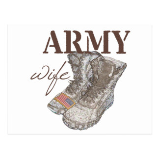 Army Wife Postcard