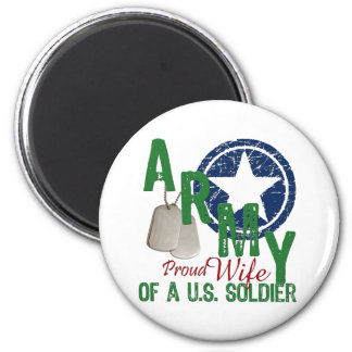 Army Wife - Proud 6 Cm Round Magnet
