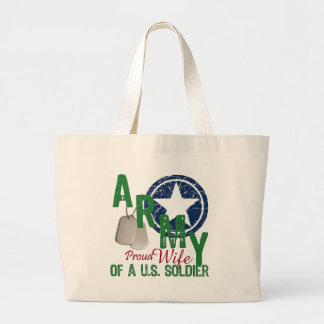 Army Wife - Proud Large Tote Bag