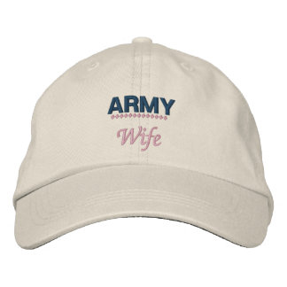 Army Wife Proud Military Family Embroidered Hat