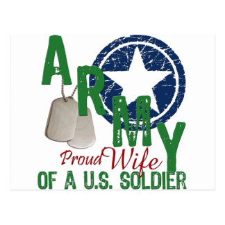 Army Wife - Proud Postcard