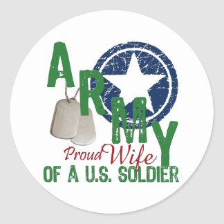 Army Wife - Proud Round Sticker