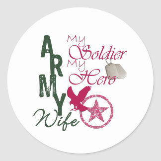 Army Wife - Soldier Round Sticker