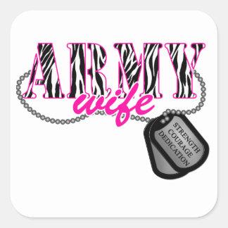 Army Wife Square Sticker