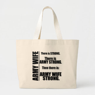 Army Wife Strong Large Tote Bag