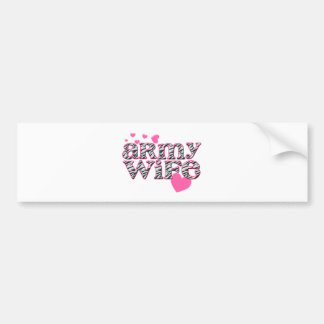 Army Wife [zebra print] Bumper Sticker