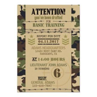 Army Woodland Camouflage Military Birthday Card