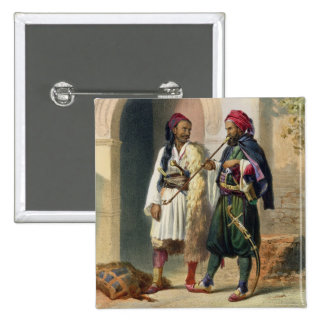 Arnaout and Osmanli Soldiers in Alexandria, illust 15 Cm Square Badge
