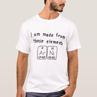 Arni periodic table name shirt