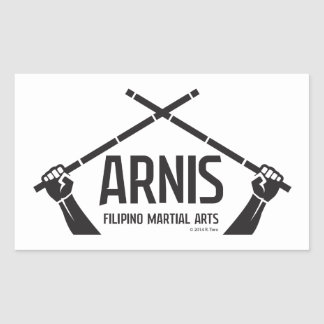 Arnis astig rectangular sticker