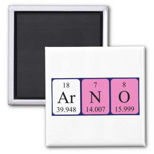 Arno periodic table name magnet