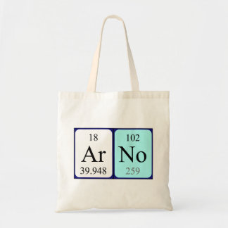 Arno periodic table name tote bag