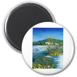 ARNO RIVER AT ROVEZZANO Florence Italy Refrigerator Magnet