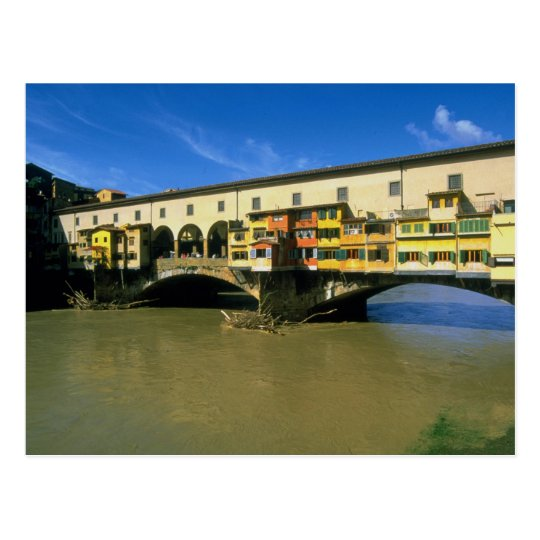 Arno River, flooded, Florence, Italy Postcard