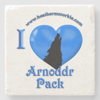 Arnoddr Wolves of Hemlock Hollow Coaster Stone Coaster