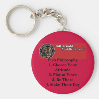 Arnold Middle School -- Fish Philosophy Basic Round Button Key Ring
