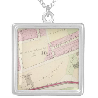 Arnold Square Rhode Island Locomotive Works Silver Plated Necklace