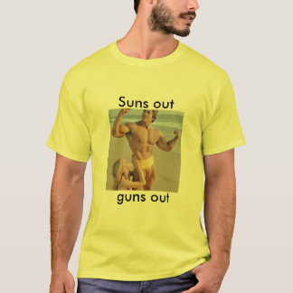 Arnold suns out, guns out tee