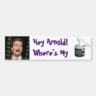 Arnold's Anal Lube Bumper Sticker