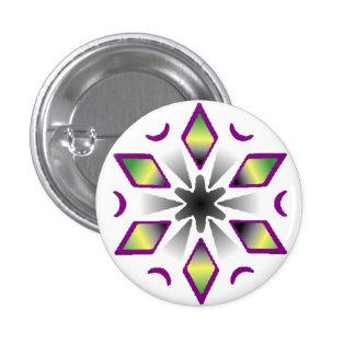 aro ace pride snowflake 3 cm round badge