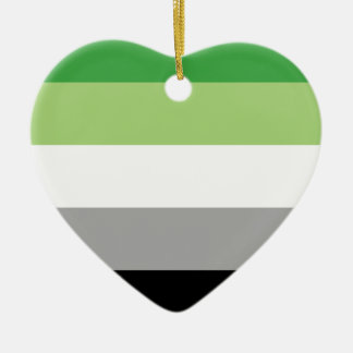 aromantic flag christmas ornament
