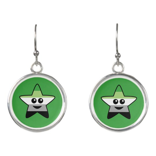 Aromantic Star Drop Earrings