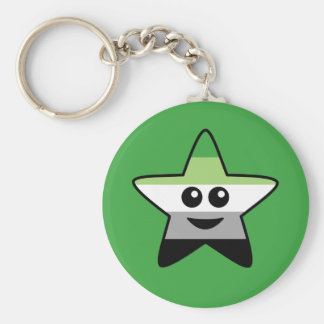 Aromantic Star Keychain
