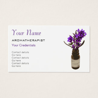 Aromatherapy Appointment Business Cards