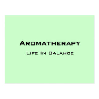Aromatherapy - Black text Postcard