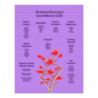 Aromatherapy Chart in Lavender 21.5 Cm X 28 Cm Flyer