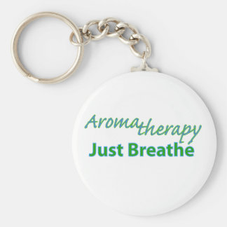Aromatherapy - Just Breathe Key Ring