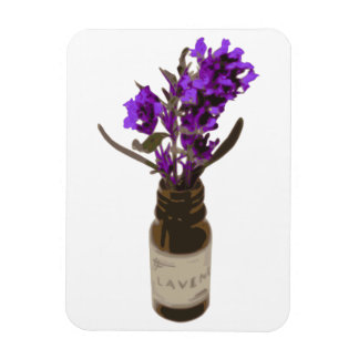 Aromatherapy Lavender Essential Oil Bottle Magnet