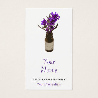 Aromatherapy Lavender Oil Bottle Business Cards