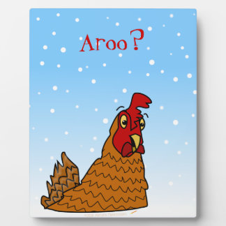Aroo Funny Chicken Lover Christmas or Winter Snow Photo Plaques