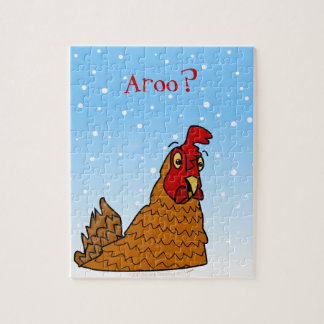 Aroo Funny Chicken Lover Christmas or Winter Snow Puzzle