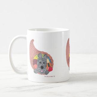 Aroo I'm Stuck Scottish Terrier Horn a plenty Basic White Mug