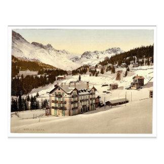 Arosa, in winter, Grisons, Switzerland vintage Pho Postcard