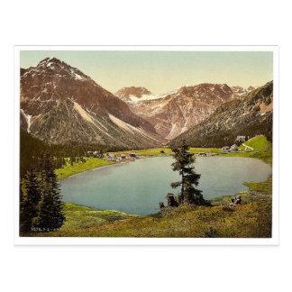Arosa, the Upper Lake, Grisons, Switzerland vintag Postcard