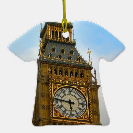 Around Britain,  Big Ben, Clock tower, Westminster Christmas Tree Ornament